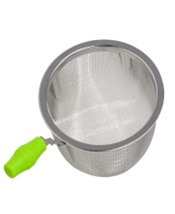 Tea Strainer Silicone Green Handle 62mm