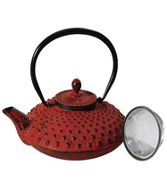 Tea Pot Cast Iron Shanghai Red