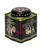 Tea Caddy Black Jap w Fitted Lid 250g