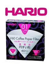 Hario V60 Filter Papers 3 Sizes 40