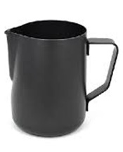 Milk Steaming Jug Black Assorted Sizes