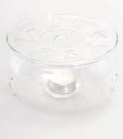 Glass Tea Warmer PEONY