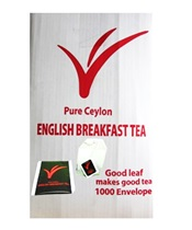 English Breakfast Envelope Teabags 20 x 50 x 2g (1000's)